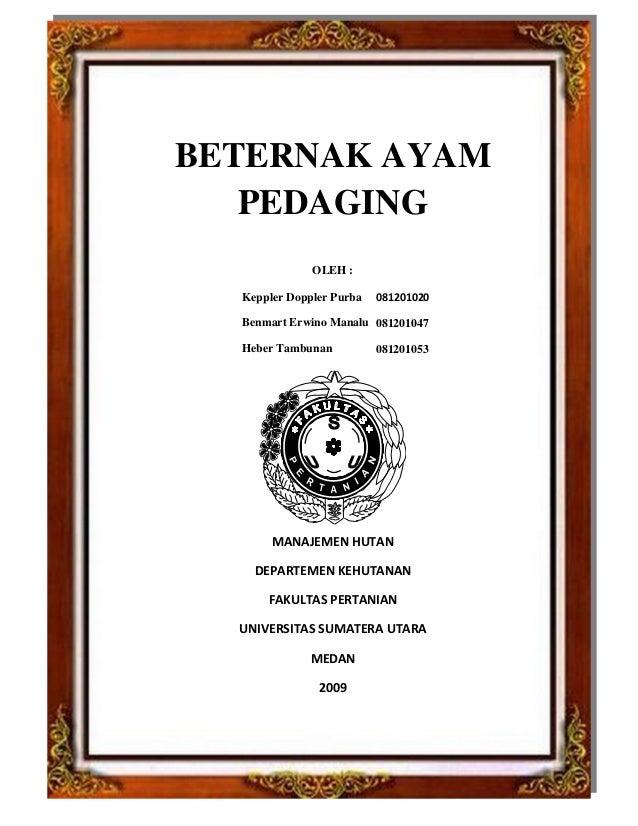 BETERNAK AYAM PEDAGING OLEH : Keppler Doppler Purba Benmart Erwino Manalu Heber Tambunan 081201047 081201053