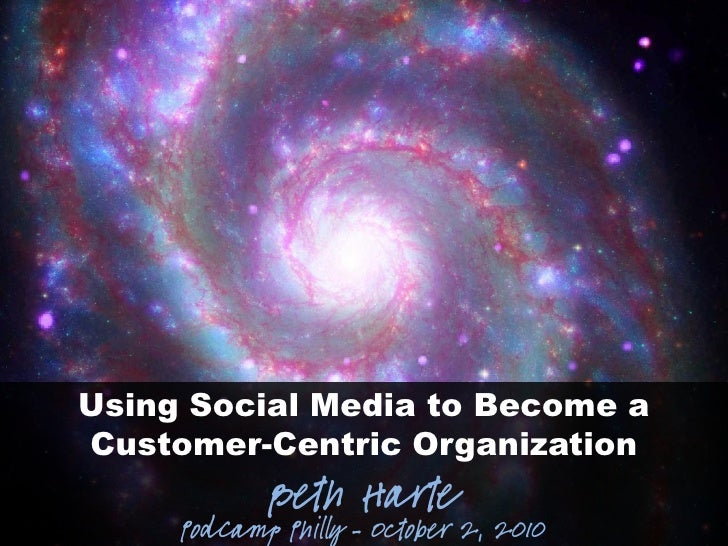 Using Social Media to Become a Customer-Centric Organization             Beth Harte      PodCamp Philly – October 2, 2010