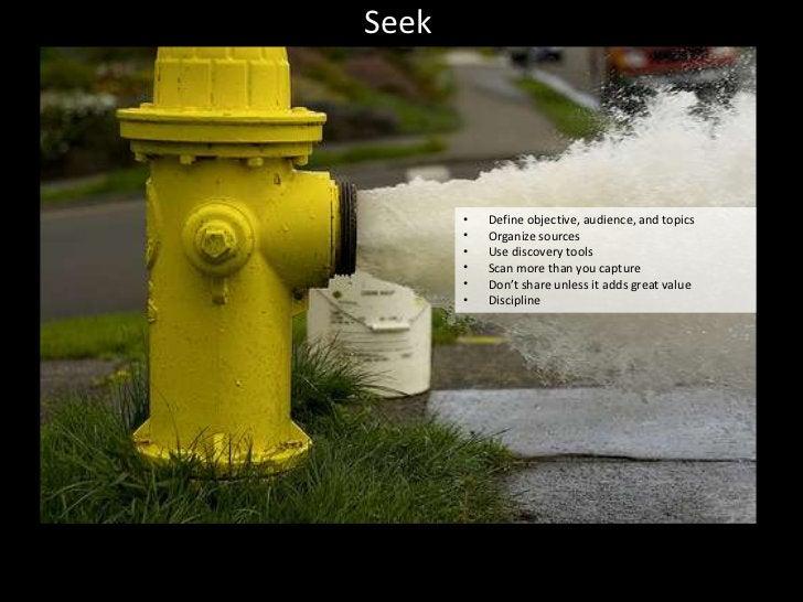 SEEK                          SENSE                        SHAREIdentified key blogs and      Summarizes article in a     ...