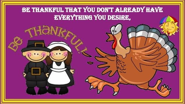 Be Thankful Slide 2