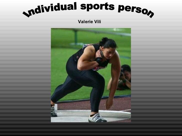 Individual sports person Valerie Vili