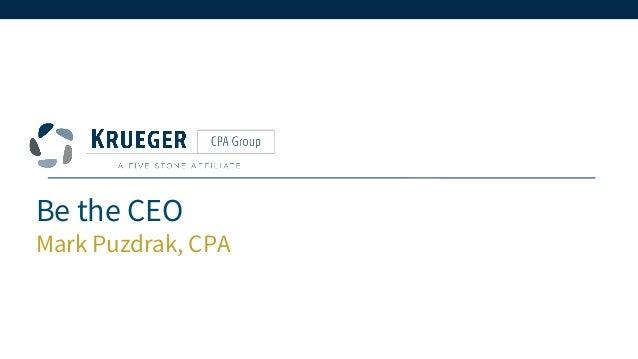 Be the CEO Mark Puzdrak, CPA