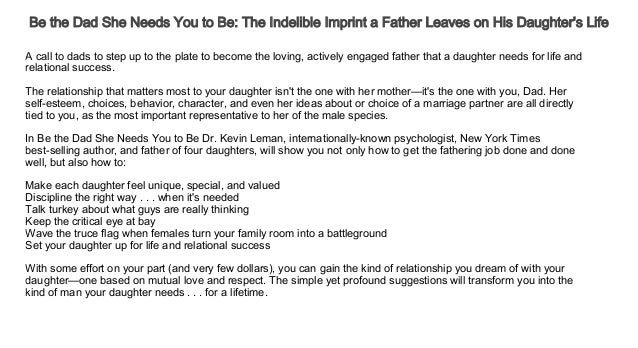 bd2bac3de ... Imprint a Father Leaves on His Daughter's Life Free Audiobook LINK IN  PAGE 4 TO LISTEN OR DOWNLOAD BOOK; 2.
