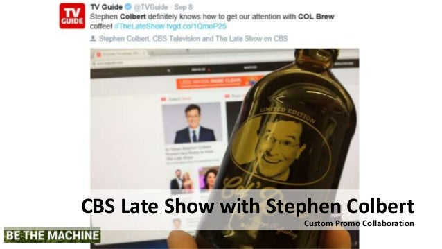 CBS Late Show with Stephen Colbert Custom Promo Collaboration