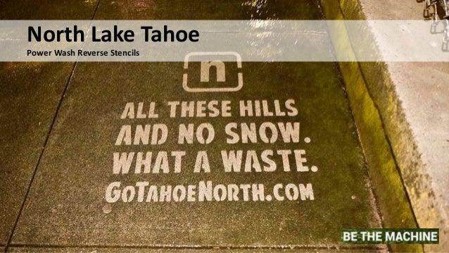 North Lake Tahoe Power Wash Reverse Stencils