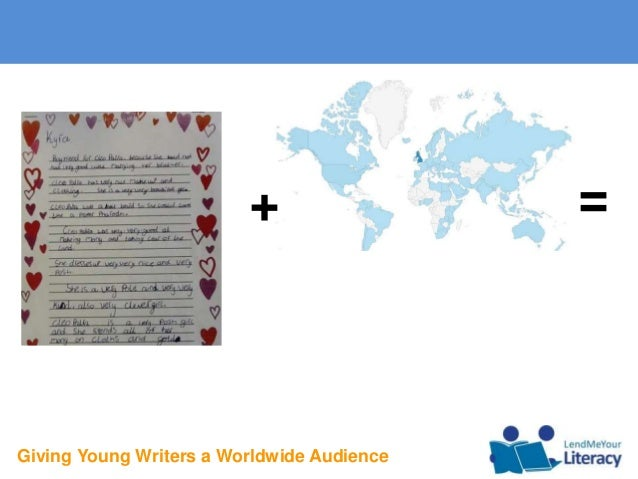 Giving Young Writers a Worldwide Audience + =