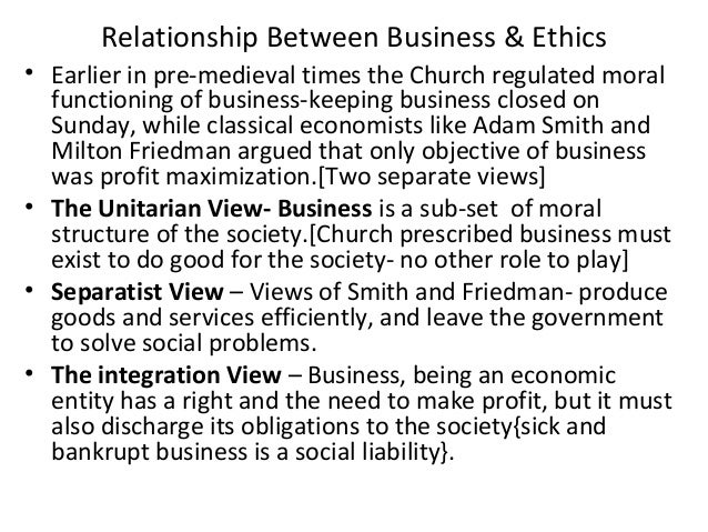 The integral relation of ethics and morality