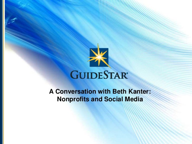 A Conversation with Beth Kanter: Nonprofits and Social Media<br />