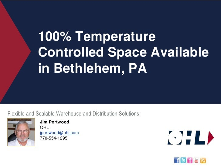 100% Temperature Controlled Space Available in Bethlehem, PA<br />Flexible and Scalable Warehouse and Distribution Solutio...