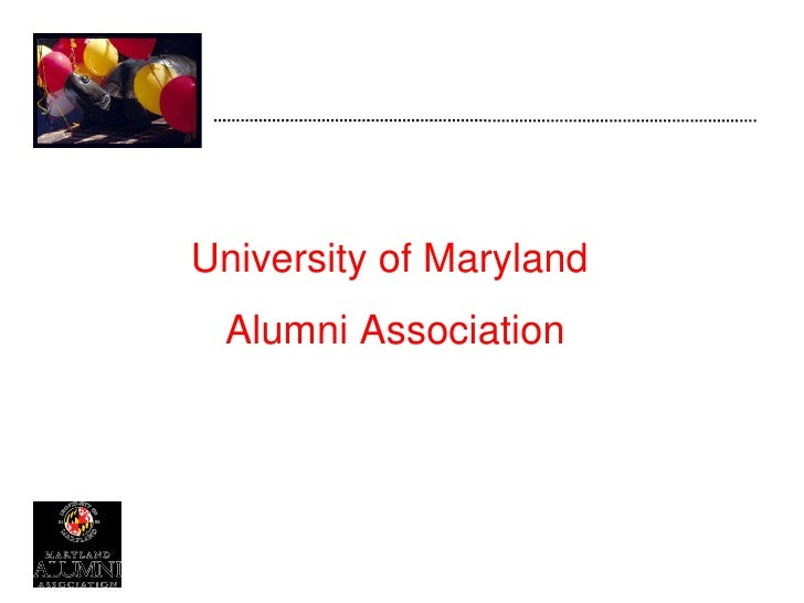 University of Maryland  Alumni Association