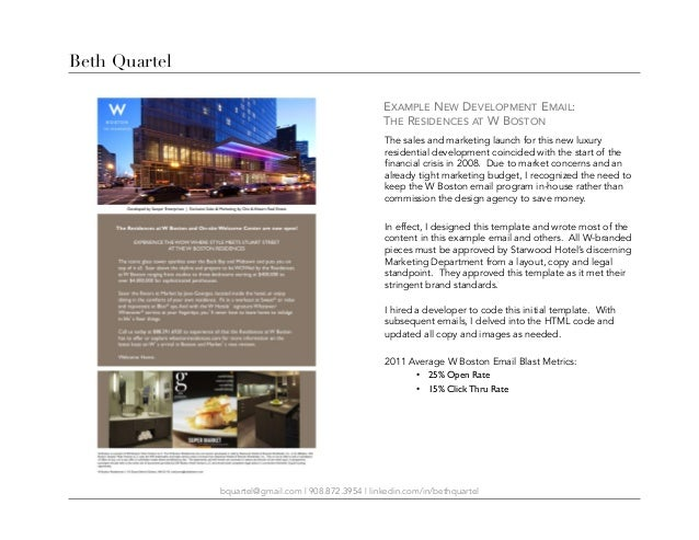 Beth Quartel Email Marketing Samplespptx - Sample email blast template