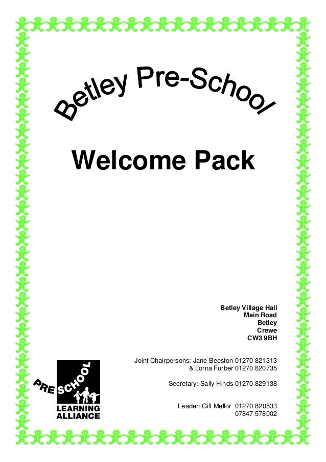 Welcome Pack                               Betley Village Hall                                      Main Road             ...