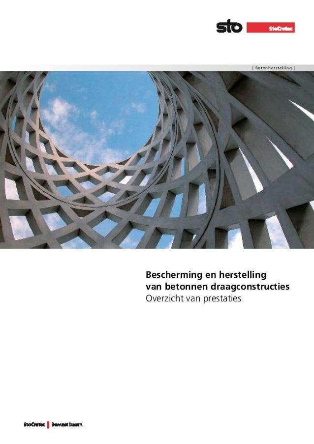 | Betonherstelling |  Bescherming en herstelling van betonnen draagconstructies Overzicht van prestaties