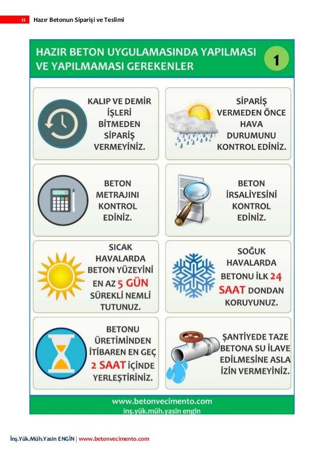 11 Hazır Betonun Siparişi ve Teslimi İnş.Yük.Müh.Yasin ENGİN   www.betonvecimento.com