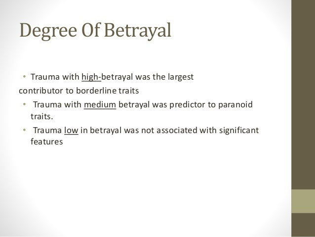Psychology of Betrayal