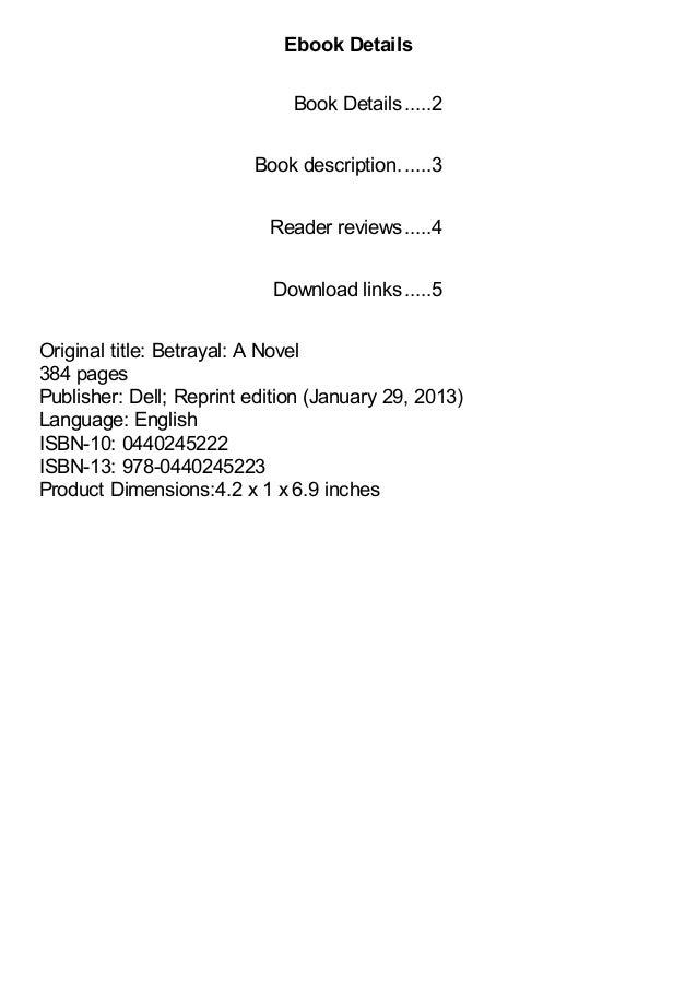 Betrayal A Novel by Danielle Steel pdf Slide 2