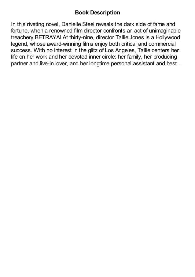 Betrayal A Novel by Danielle Steel pdf Slide 3