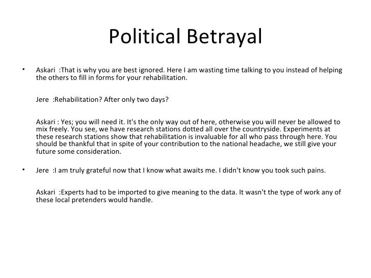 essay questions on betrayal in the city by francis imbuga