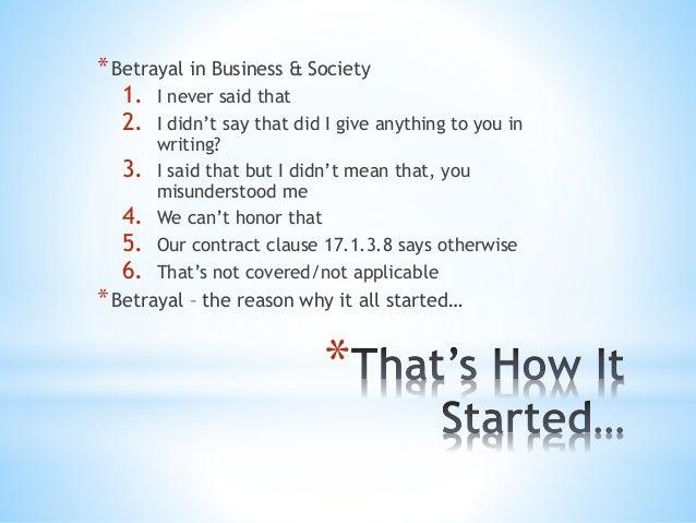 Betrayal of trust essay