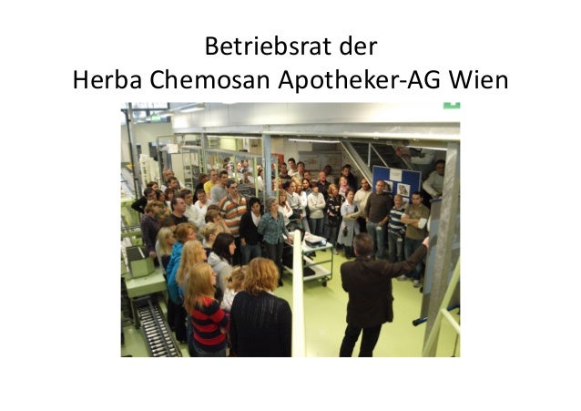 Betriebsrat der  Herba Chemosan Apotheker-‐AG Wien