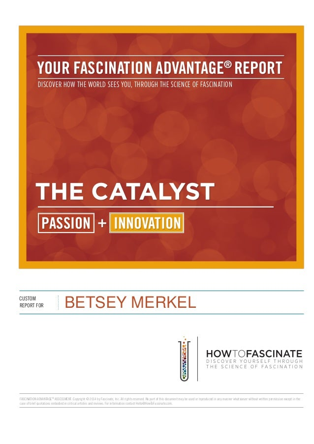 iii UR FASOINATIN AOVANTAGE® REPORT  DISCOVER HOW THE WORLD SEES YOU,  THROUGH THE SCIENCE OF FASCINATION