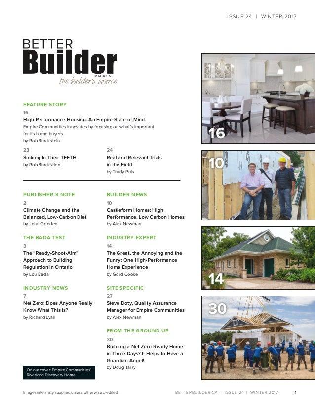 Better Builder Magazine, Issue 24 / Winter 2017 Slide 3