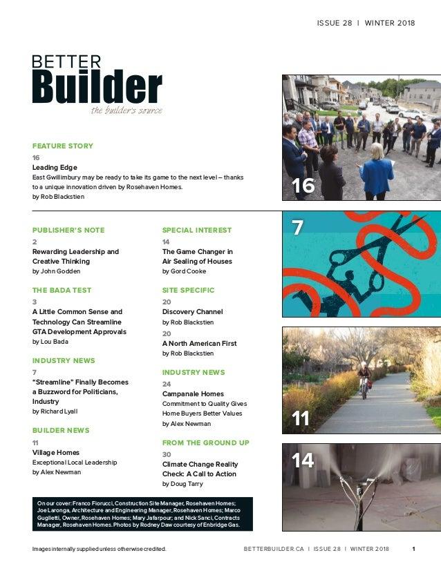 Better Builder Magazine, Issue 28 / Winter 2018 Slide 3