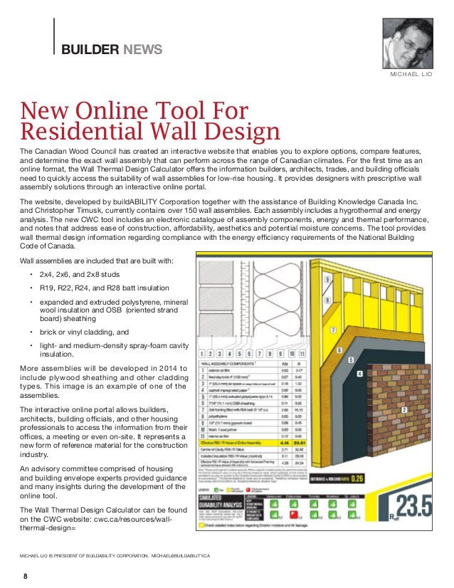 New Online Tool For Residential Wall Design The Canadian Wood Council has created an interactive website that enables you ...