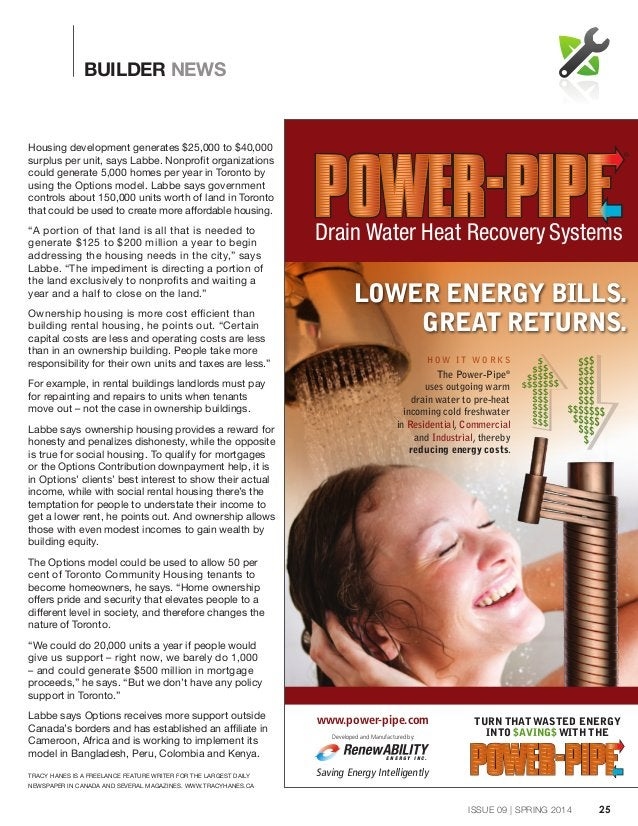 The Power-Pipe® uses outgoing warm drain water to pre-heat incoming cold freshwater in Residential, Commercial and Industr...