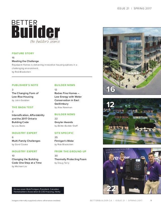 Better Builder Magazine, Issue 21 / Spring 2017 Slide 3
