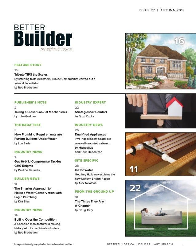Better Builder Magazine, Issue 27 / Fall 2018 Slide 3