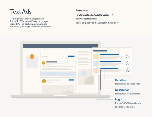 How to Create a Text Ads Campaign Text Ads Best Practices To see all specs, visit the LinkedIn Ads Guide Resources: Text A...