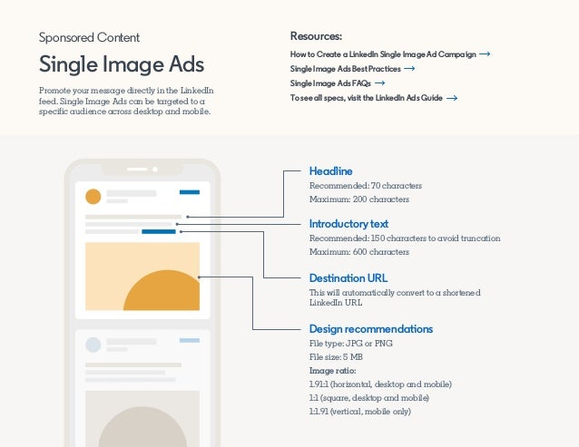 Promote your message directly in the LinkedIn feed. Single Image Ads can be targeted to a specific audience across desktop...