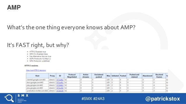 #SMX #24A3 @patrickstox What's the one thing everyone knows about AMP? It's FAST right, but why? AMP