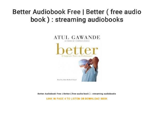 Better Audiobook Free | Better ( free audio book