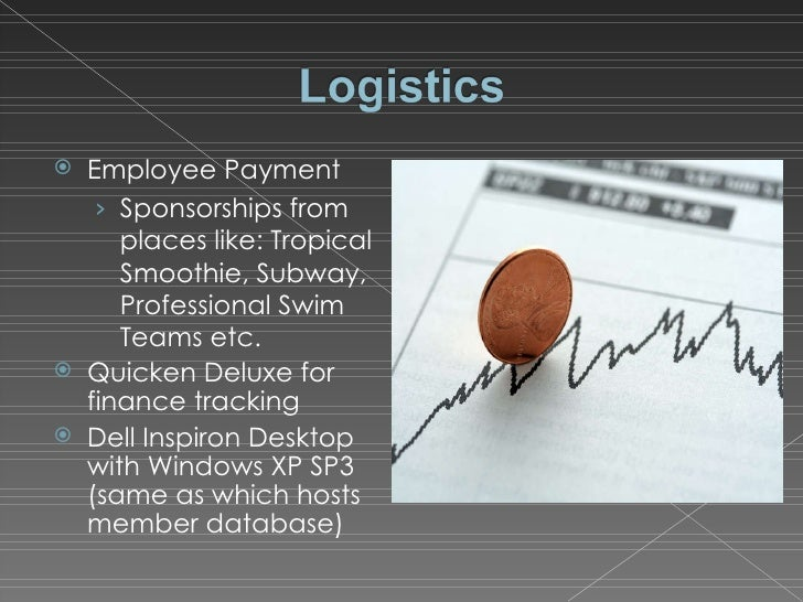 <ul><li>Employee Payment </li></ul><ul><ul><li>Sponsorships from places like: Tropical Smoothie, Subway, Professional Swim...