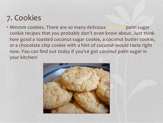 Coconut palm sugar cookie recipes