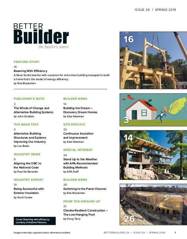 Better Builder Magazine, Issue 29 / Spring 2019  Slide 3