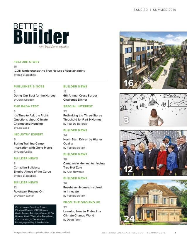 Better Builder Magazine, Issue 30 / Summer 2019 Slide 3