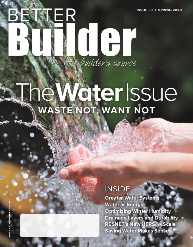 PUBLICATIONNUMBER42408014 INSIDE Greyter Water Systems Water as Energy Optimizing Winter Humidity Drainage Layers and Dura...