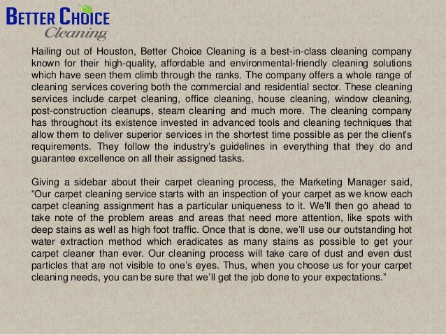 Better choice cleaning is providing cleaning services in ...
