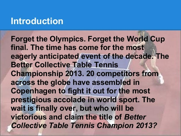 Better Collective Table Tennis Championship 2013