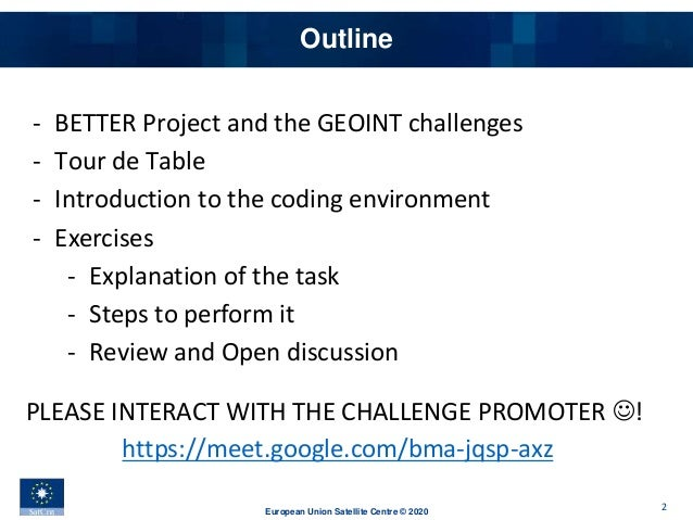 Better Hackathon 2020 - SatCen - SAR-Based Change Detection - Enhanced Analysis And Postprocessing Slide 2