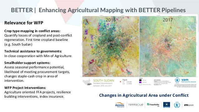 Better Hackathon 2020 - WFP - Enhancing Agricultural Mapping With BETTER Pipelines Slide 2