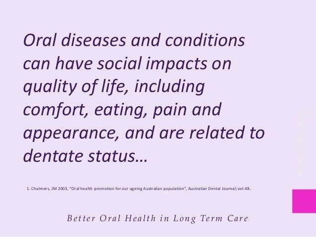 Better oral health in long term care: Best practice standards for saskatchewan update Slide 3