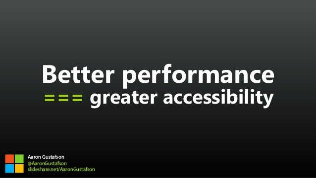 Better performance