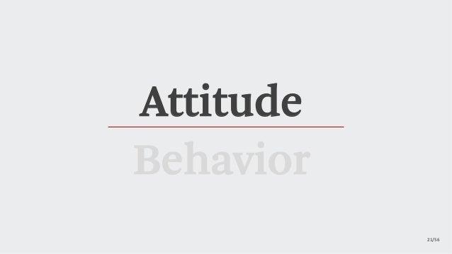 21/56 Attitude Behavior