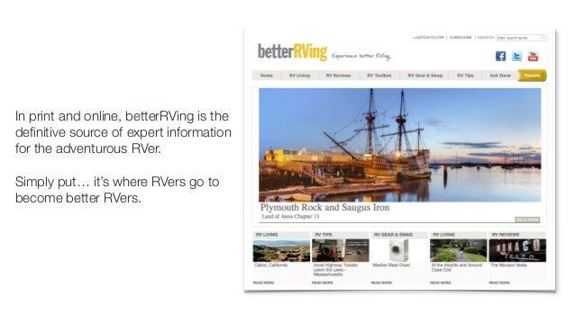 betterRVing - a content marketing tool Slide 2