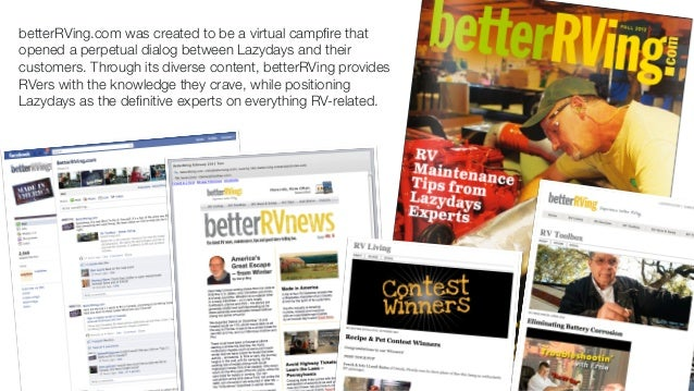 betterRVing - a content marketing tool Slide 3