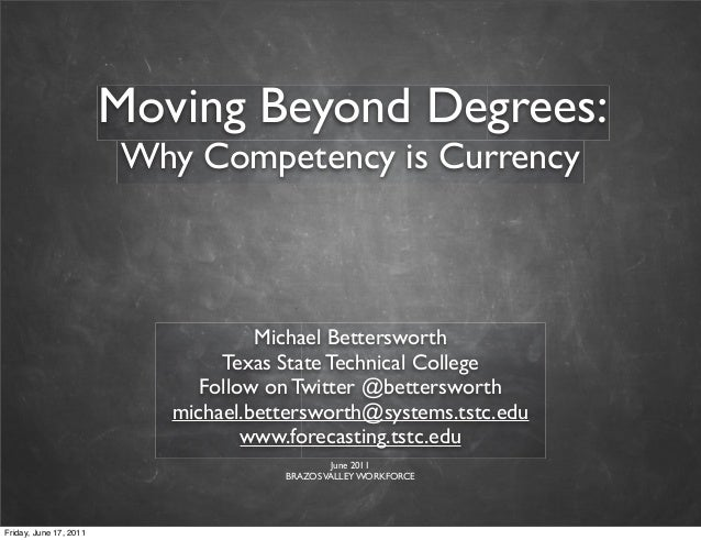 mymail tstc Moving Beyond Degrees: Why competency is currency